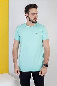Camisa lisa Hasum ( cor verde ciano ) tecido coton Especial (unissex)