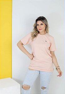 Camisa lisa Hasum ( rosa claro ) tecido coton Especial (unissex)
