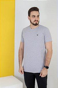 Camisa lisa Hasum ( cinza ) tecido coton Especial (unissex)