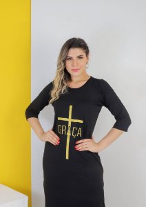 VESTIDO LONGO GRAÇA SILK DOURADO
