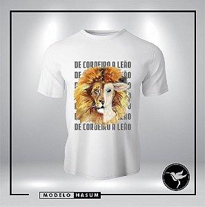 CAMISA DE CORDEIRO A LEÃO UNISSEX (COR BRANCA)