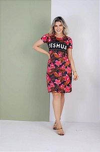 Vestido yeshua aplique floral