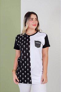 Camisa Yeshua bolso black/white