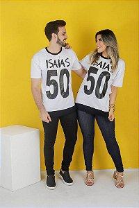 CAMISA ISAIAS 50 ( preta/branca )