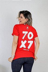 Camiseta 70x7 perdoe ( vermelha )