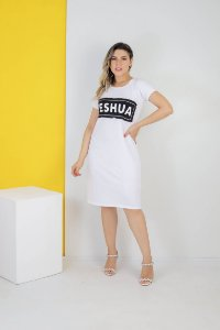 vestido aplique yeshua (cor branco)