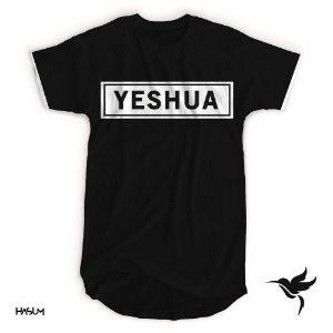 Longline yeshua aplique Branco (cor preta)