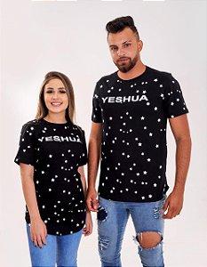 Longline yeshua ESTRELAS ( COR PRETA)