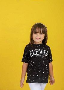 Camiseta infantil ele virá  (cor preta) unissex