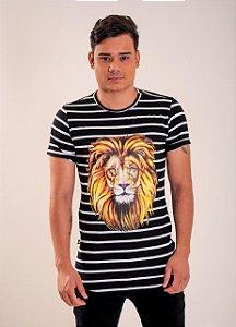 Camiseta Leão apc 5:5 (LISTRADA) UNISSEX