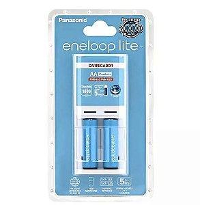 Carregador Panasonic Eneloop (kit Com 2 Pilhas AA)