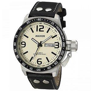Relógio Magnum Couro