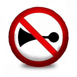 Almofada Divertida Placa Sinalizadora Proibido Buzinar