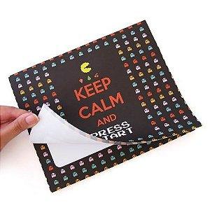 Mouse Pad Bloco de Anotações Pac Man
