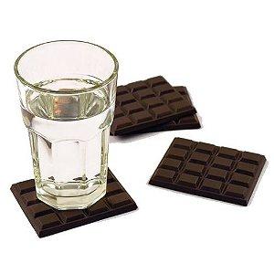 Porta Copos Barras de Chocolate - 4 unids