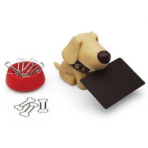 Porta Clipes Divertido T Dog Marrom