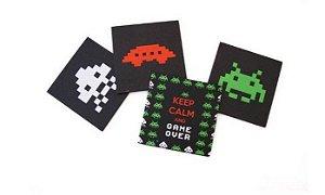 Porta Copos Invaders - Conjunto com 4