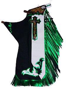 Calça de Montaria Perna Bicolor