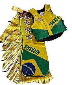 Kit Calça e Colete Personalizado Brasil