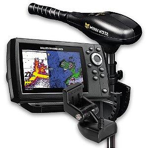 GPS Sonar Humminbird Helix 5 G2 e Minn Kota Endura C2 34lbs