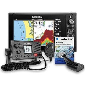 GPS Sonar Simrad Cruise 9 c/ Carta e Rádio VHF Simrad RS20