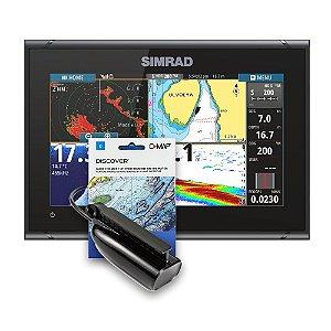 GPS Sonar Simrad GO9 c/ Transdutor e Carta Náutica