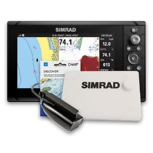 GPS Sonar Simrad Cruise 9 c/ Capa Moldura Transdutor e Carta