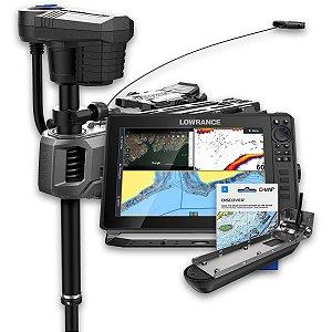 GPS Sonar Lowrance HDS LIVE 12 e Ghost Trolling Motor 120lbs