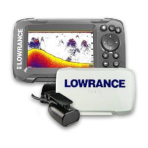 Sonar c/ GPS Lowrance Hook2-4x + Transdutor e Capa Protetora