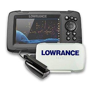 Sonar c/ GPS Lowrance Hook Reveal 5x SS e Capa Protetora