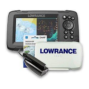 GPS Sonar Lowrance Hook Reveal 5 ROW c/ Capa e Carta Náutica
