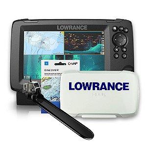 GPS Sonar Lowrance Hook Reveal 7 TS ROW Capa e Carta Náutica