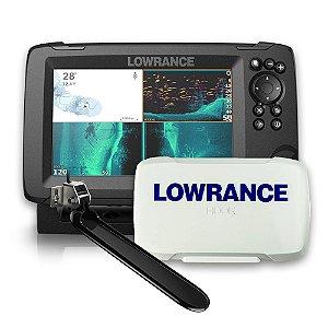 Sonar c/ GPS Lowrance Hook Reveal 7x TS c/ Capa Protetora