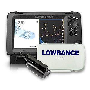 Sonar c/ GPS Lowrance Hook Reveal 7x SS c/ Capa Protetora