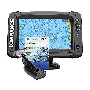 GPS Sonar Lowrance Elite Ti2 7 c/ Transdutor e Carta Náutica