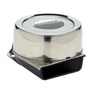 Buzina Elétrica Sobrepor Aço Inox 12V Seachoice 14501