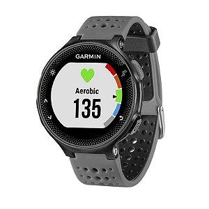 Relógio Monitor Cardíaco GPS Garmin Forerunner 235 Preto Cinza