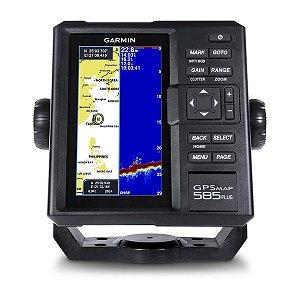 GPS Sonar Garmin GPSMAP 585 Plus com Transducer e Carta Náutica