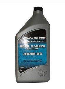 ÓLEO RABETA QUICKSILVER 80W-90 PREMIUM 92-8M0090503 + Vela p Mercury 25
