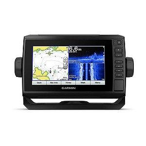 Gps Sonar Garmin Echomap Plus 72CV 7 Transducer + Carta Naútica
