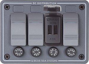 Botão USB Duplo 12V Marinizado Bluesea BSE-1039