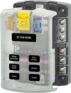 Porta Fusível 6 Circuitos Com Barramento BlueSea 5025