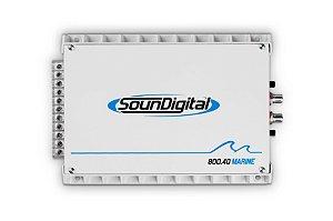 Amplificador Marinizado 800.4D SoundDigital