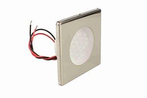 Luminária de Cabine Quadrada Aço Inox Arieltek E1102