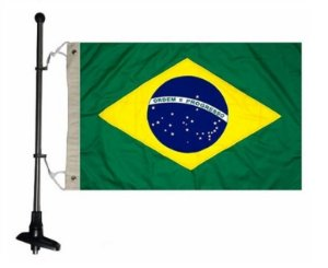 Mastro de Popa C/ Bandeira Brasileira Arieltek D1180