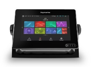 GPS Sonar Raymarine Axiom 7DV + CPT-100DVS e Carta Náutica