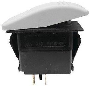 Botão Painel Mon-Off-Mon SPST Seachoice 12V 20A Branco