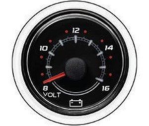 Relógio Indicador de Voltagem Mercury 79-8M0052843 Preto 8-16V