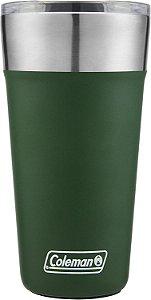Copo Térmico p/ Bebidas Coleman Aço Inox Verde 590ml
