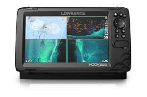 GPS Sonar Lowrance Hook Reveal 9 TripleShot c/ Transdutor